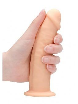 Godemichet sans testicules 15,3 cm REALROCK - blanc prise en main