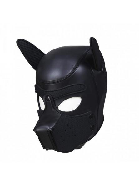 Cagoule puppy en néoprène taille S/M Noir profil gauche
