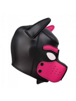 Cagoule puppy en néoprène taille S/M noir et rose côté droit
