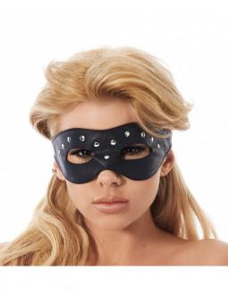 Masque ouvert en cuir avec rivets Rimba