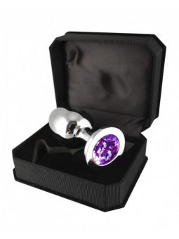 Plug en inox taille M Rimba - violet packaging