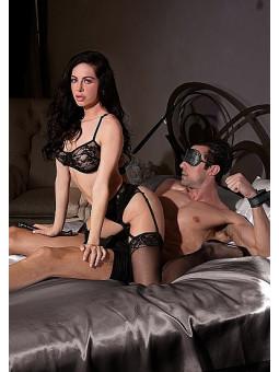 Kit bondage pour fixation au lit BDSM Ouch! - exemple