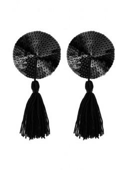 Cache-tétons noir