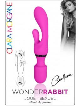 Vibromasseur rabbit Wonder Rabbit Clara Morgane rose packaging 2