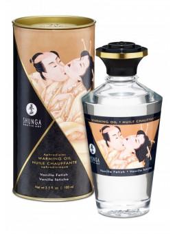 Huile chauffante aphrodisiaque Shunga vanille packaging